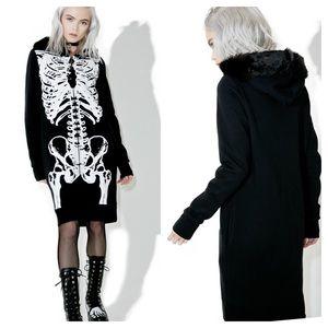 Dolls Kill | Iron Fist Wishbone Fuzzy Fur Jacket